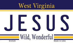 Jesus West Virginia State License Plate Wholesale Magnet M-6526