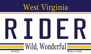 Rider West Virginia State License Plate Wholesale Magnet M-6532