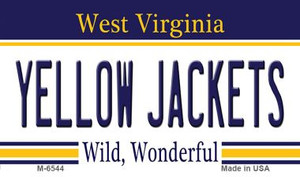 Yellow Jackets West Virginia State License Plate Wholesale Magnet M-6544