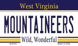 Mountaineers West Virginia State License Plate Wholesale Magnet M-6545