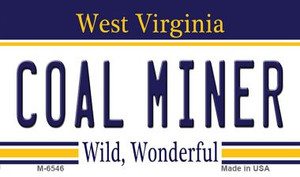 Coal Miner West Virginia State License Plate Wholesale Magnet M-6546