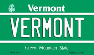 Vermont State License Plate Novelty Wholesale Magnet M-10658