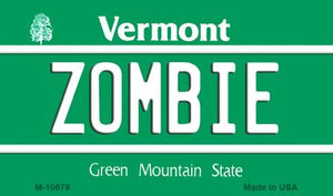 Zombie Vermont State License Plate Novelty Wholesale Magnet M-10679