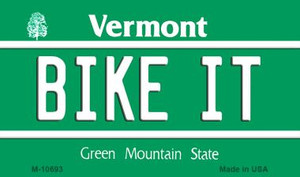 Bike It Vermont State License Plate Novelty Wholesale Magnet M-10693