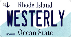 Westerly Rhode Island License Plate Novelty Wholesale Key Chain KC-11188