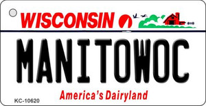 Manitowoc Wisconsin License Plate Novelty Wholesale Key Chain KC-10620