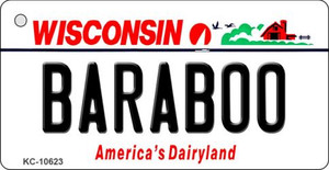 Baraboo Wisconsin License Plate Novelty Wholesale Key Chain KC-10623
