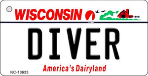 Diver Wisconsin License Plate Novelty Wholesale Key Chain KC-10633