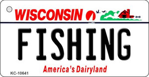Fishing Wisconsin License Plate Novelty Wholesale Key Chain KC-10641