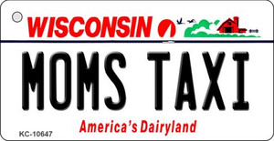 Moms Taxi Wisconsin License Plate Novelty Wholesale Key Chain KC-10647