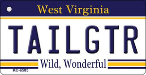 Tailgtr West Virginia License Plate Wholesale Key Chain