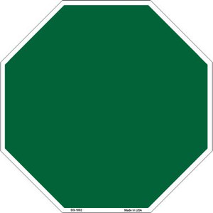 Green Dye Sublimation Wholesale Octagon Metal Novelty Stop Sign BS-1002