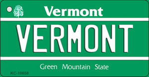 Vermont License Plate Novelty Wholesale Key Chain
