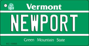 Newport Vermont License Plate Novelty Wholesale Key Chain