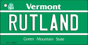 Rutland Vermont License Plate Novelty Wholesale Key Chain