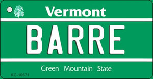Barre Vermont License Plate Novelty Wholesale Key Chain