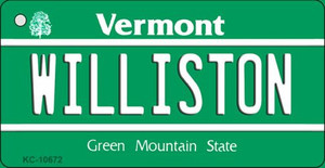Williston Vermont License Plate Novelty Wholesale Key Chain
