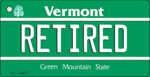 Retired Vermont License Plate Novelty Wholesale Key Chain