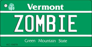 Zombie Vermont License Plate Novelty Wholesale Key Chain