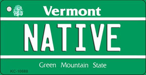 Native Vermont License Plate Novelty Wholesale Key Chain