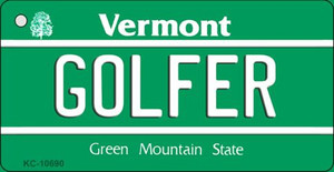 Golfer Vermont License Plate Novelty Wholesale Key Chain