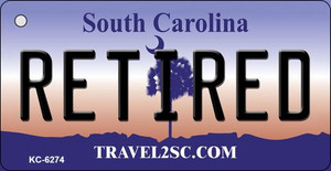 Retired South Carolina License Plate Wholesale Key Chain