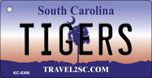 Tigers South Carolina License Plate Wholesale Key Chain