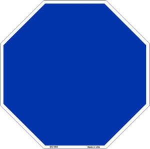 Blue Dye Sublimation Wholesale Octagon Metal Novelty Stop Sign BS-1003