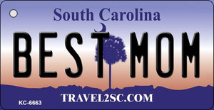 Best Mom South Carolina License Plate Wholesale Key Chain KC-6663
