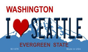 I Love Seattle Washington State License Plate Wholesale Magnet M-1479