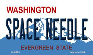 Space Needle Washington State License Plate Wholesale Magnet M-8398