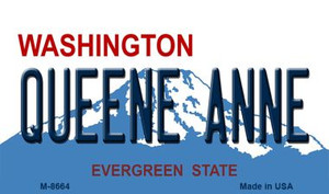 Quenne Anne Washington State License Plate Wholesale Magnet M-8664