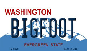 Bigfoot Washington State License Plate Wholesale Magnet M-8670