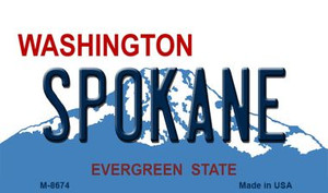 Spokane Washington State License Plate Wholesale Magnet M-8674
