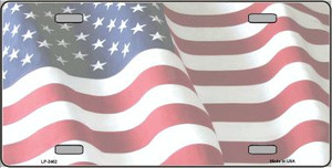 Faded Old Glory Background Wholesale Metal Novelty License Plate LP-3462