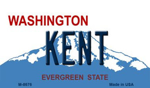 Kent Washington State License Plate Wholesale Magnet M-8676
