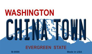 China Town Washington State License Plate Wholesale Magnet M-8686