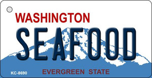 Seafood Washington State License Plate Wholesale Key Chain KC-8690