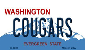 Cougars Washington State License Plate Wholesale Magnet M-8693