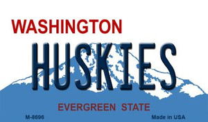 Huskies Washington State License Plate Wholesale Magnet M-8696