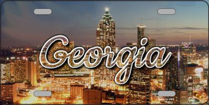 Georgia City Lights Wholesale State License Plate LP-11593