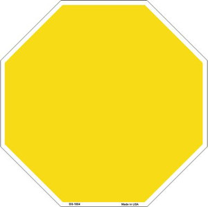 Yellow Dye Sublimation Wholesale Octagon Metal Novelty Stop Sign BS-1004