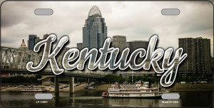 Kentucky City Skyline Wholesale State License Plate LP-11601