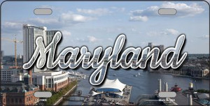 Maryland River Skyline Wholesale State License Plate LP-11605