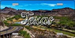 Texas Open Mountain Road Wholesale State License Plate LP-11633