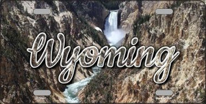Wyoming Rocky Waterfall Wholesale State License Plate LP-11641