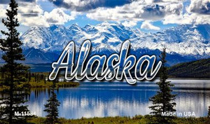 Alaska Snowy Mountains Wholesale Magnet M-11584