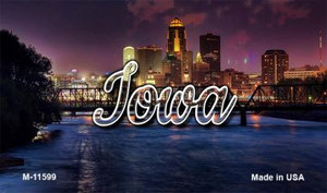 Iowa Bridge City Lights Wholesale Magnet M-11599