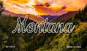 Montana Forest Sunset Wholesale Magnet M-11612