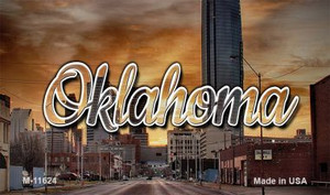 Oklahoma Sunset Skyline Wholesale Magnet M-11624